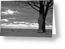 Virgin Mary At Sunset In South Haven Michigan Greeting Card