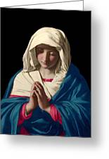 Virgin Mary In Prayer Greeting Card