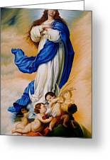 Virgin Of The Immaculate Conception After Murillo Greeting Card