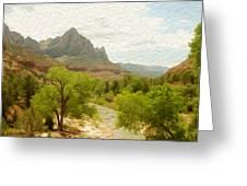 Virgin River Through Zion National Park 2 Greeting Card