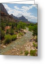 Virgin River Through Zion National Park Greeting Card