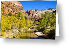 Virgin River - Zion Greeting Card
