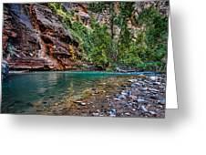 Virgin River Zion National Park Utah Greeting Card