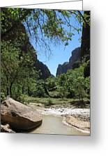 Virgin River  Zion Np Greeting Card