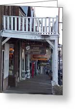 Virginia City Sidewalk  Greeting Card