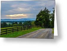 Virginia Road At Sunset Greeting Card