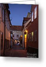 Visby Evening  Greeting Card