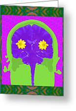Vision Flowers In The Brain Greeting Card