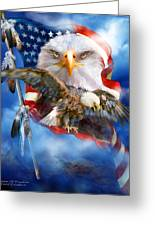 Vision Of Freedom Greeting Card