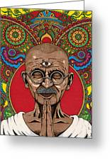 Visionary Gandhi Greeting Card