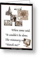 Visionary Says Greeting Card