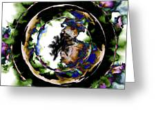 Visions Echo In The Crystal Ball Greeting Card