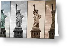 Visions Of Liberty Greeting Card