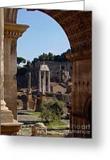 Visions Of Rome Greeting Card