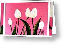 Visions Of Springtime - Abstract - Triptych Greeting Card