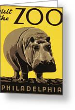Visit The Philadelphia Zoo Greeting Card
