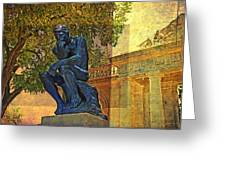 Visit To The Thinker Greeting Card