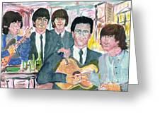 Visiting Elvis 1965 Greeting Card