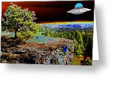 Visiting Rimrock In Spokane Greeting Card