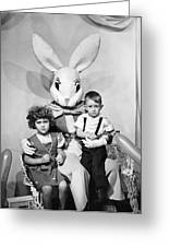 Visiting The Easter Bunny Greeting Card