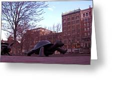 Visitors - Copley Square Greeting Card