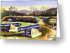 Visitors Welcome At Fort Davidson Greeting Card