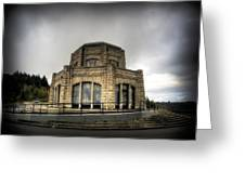 Vista House At Crown Point - Oregon Greeting Card