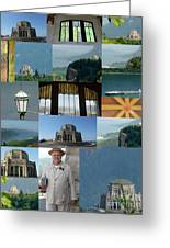 Vista House Collage Greeting Card