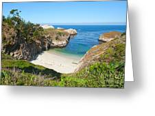 Vista Of China Cove At Point Lobos State Reserve California Greeting Card