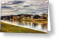 Vistula River In Cracow Greeting Card