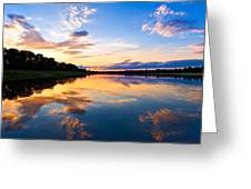 Vistula River Sunset Greeting Card