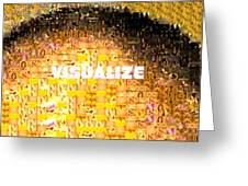Visualize Gold Greeting Card