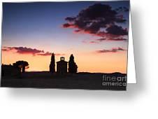 Vitaleta Chapel - Tuscany - Italy Greeting Card