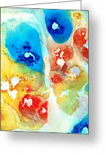 Vitality - Contemporary Art By Sharon Cummings Greeting Card by Sharon Cummings
