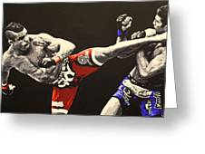 Vitor Belfort Kick Greeting Card