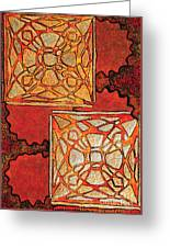Vitrales II From The Frank Lloyd Wright A Mano Series Greeting Card