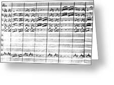 Vivaldi Manuscript Greeting Card