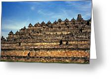 Vivid Borobudur Greeting Card