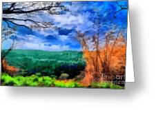 Vivid Landscape Greeting Card by George Paris