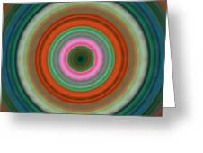 Vivid Peace - Circle Art By Sharon Cummings Greeting Card