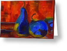 Vivid Pears Art Painting Greeting Card by Blenda Studio