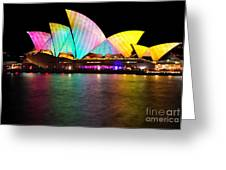Vivid Sydney 2014 - Opera House 1 By Kaye Menner Greeting Card