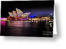 Vivid Sydney 2014 - Opera House 5 By Kaye Menner Greeting Card