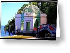 Vizcaya By The Pier Greeting Card