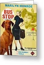 Vizsla Art Canvas Print - Bus Stop Movie Poster Greeting Card