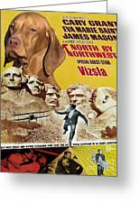 Vizsla Art Canvas Print - North By Northwest Movie Poster Greeting Card