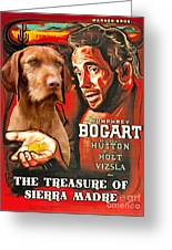 Vizsla Art Canvas Print - The Treasure Of The Sierra Madre Movie Poster Greeting Card