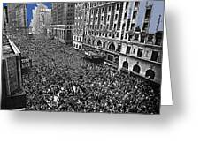 Vj Day Times Square New York City 1945 Color Added 2013 Greeting Card