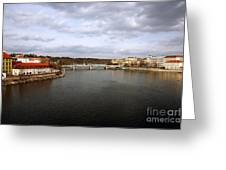 Vltava River View Greeting Card by John Rizzuto
