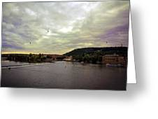 Vltava View Revisited - Prague Greeting Card
